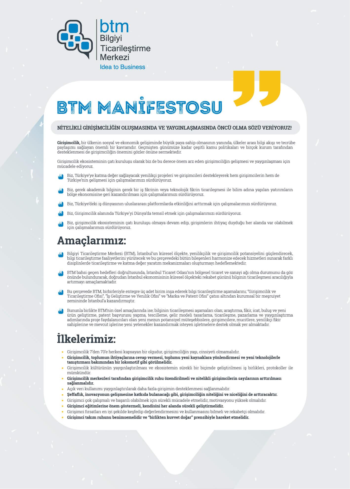BTM Manifesto
