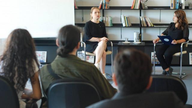 """BTM """"Idea 2 Business"""" Söyleşileri'ne Bu Hafta Sabina Babayeva Konuk Oldu"""